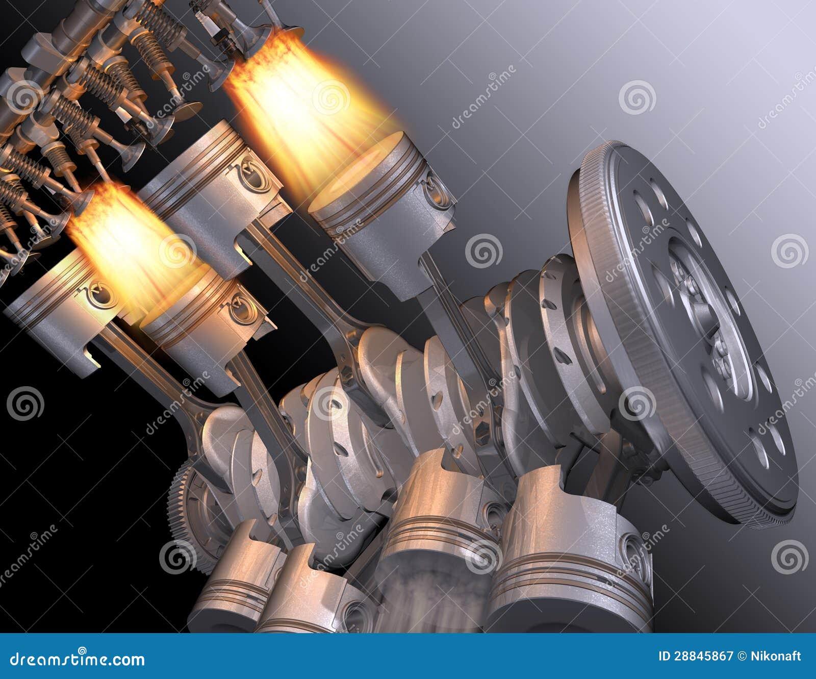 moteur v8 illustration stock illustration du moteur 28845867. Black Bedroom Furniture Sets. Home Design Ideas