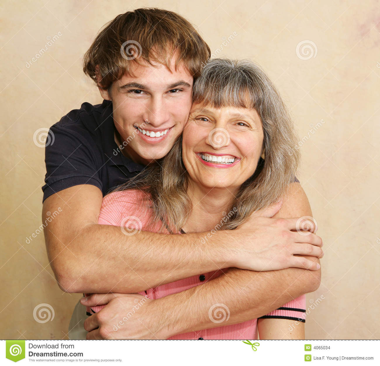 mother adult son portrait stock images image 4065034. Black Bedroom Furniture Sets. Home Design Ideas