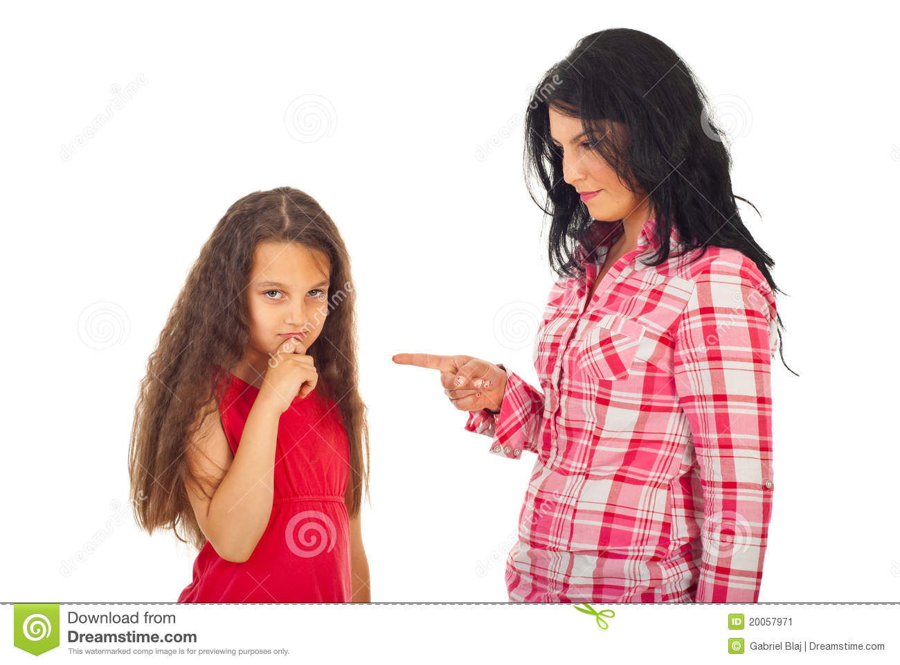 Mother arguing daughter