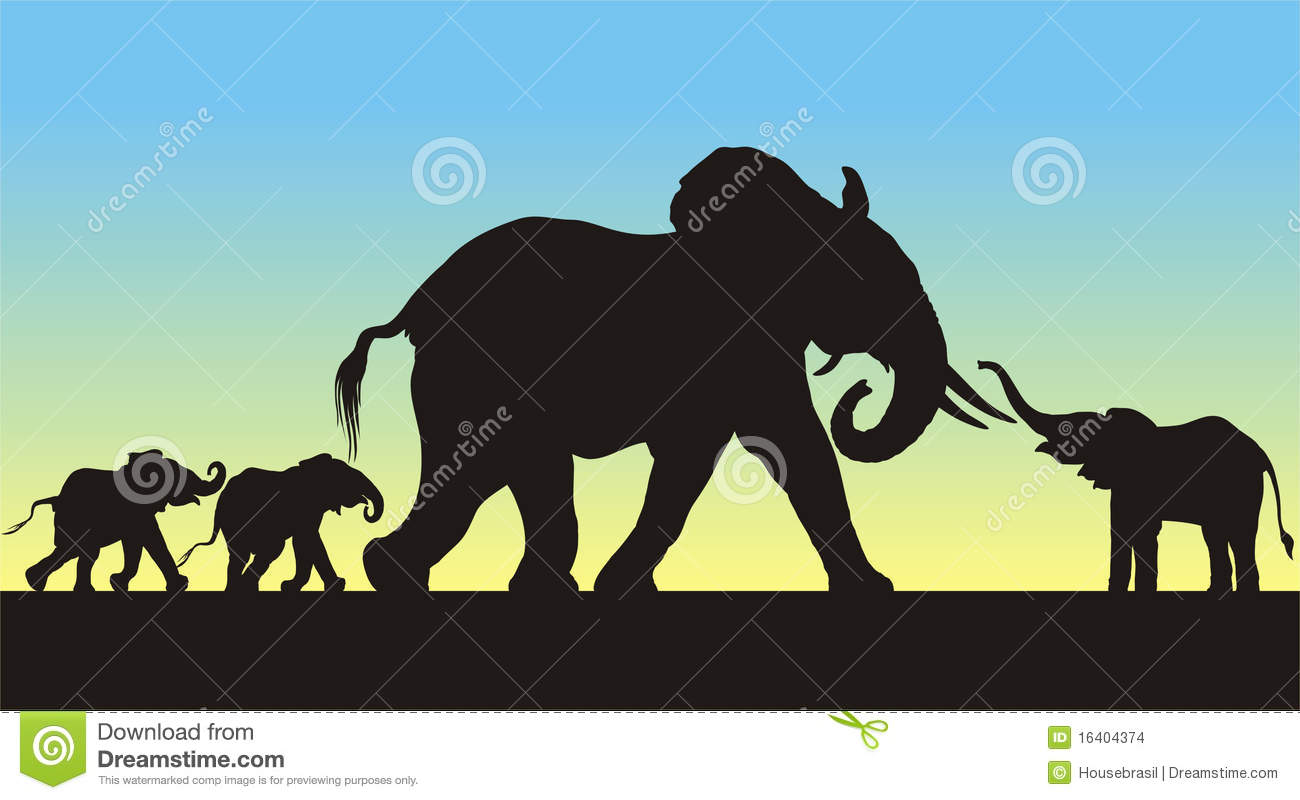 Elephant baby shower Silhouette cutter template