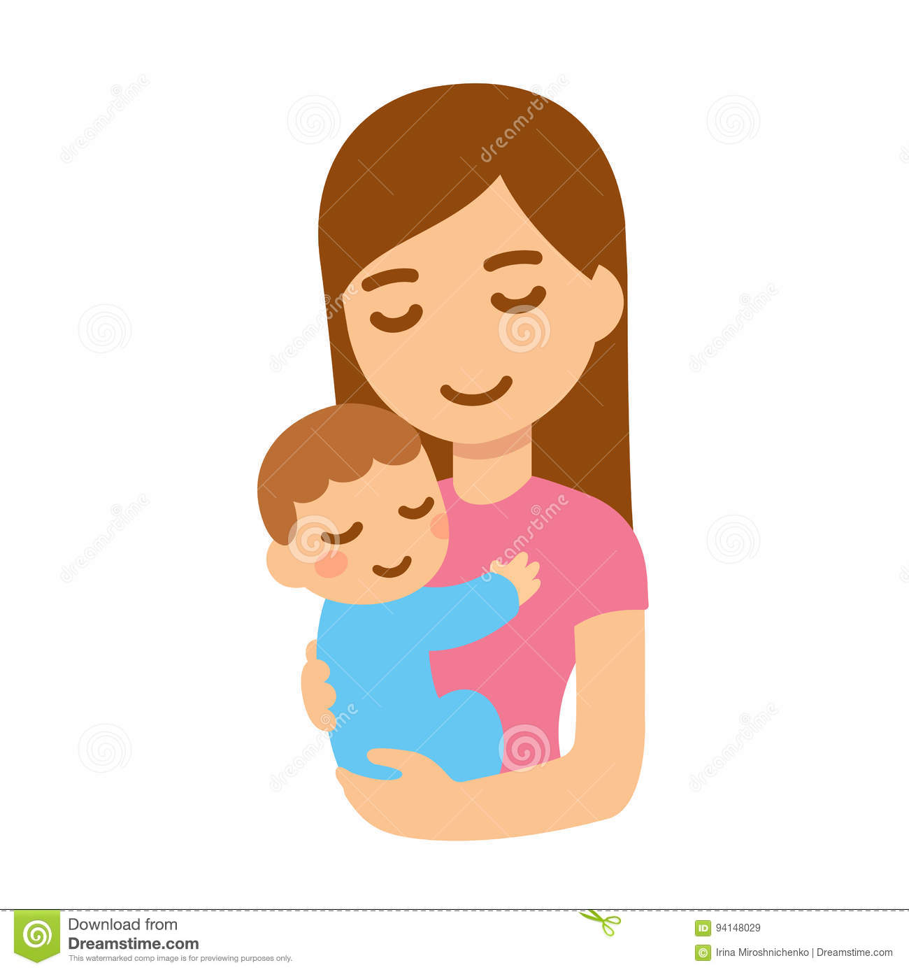 Mother with baby stock vector. Illustration of isolated ...