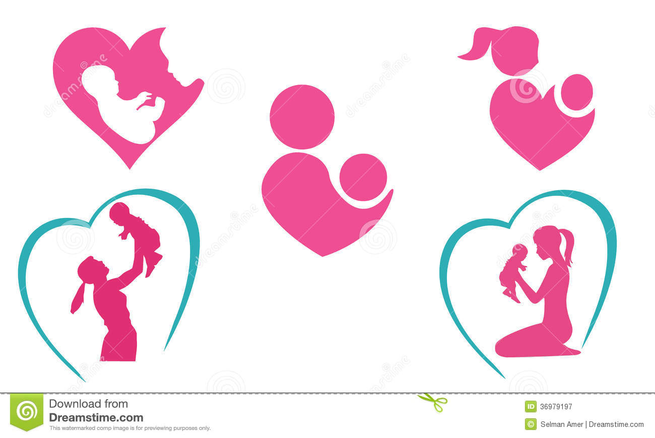 Mother And Baby Icons Royalty Free Stock Photography ...