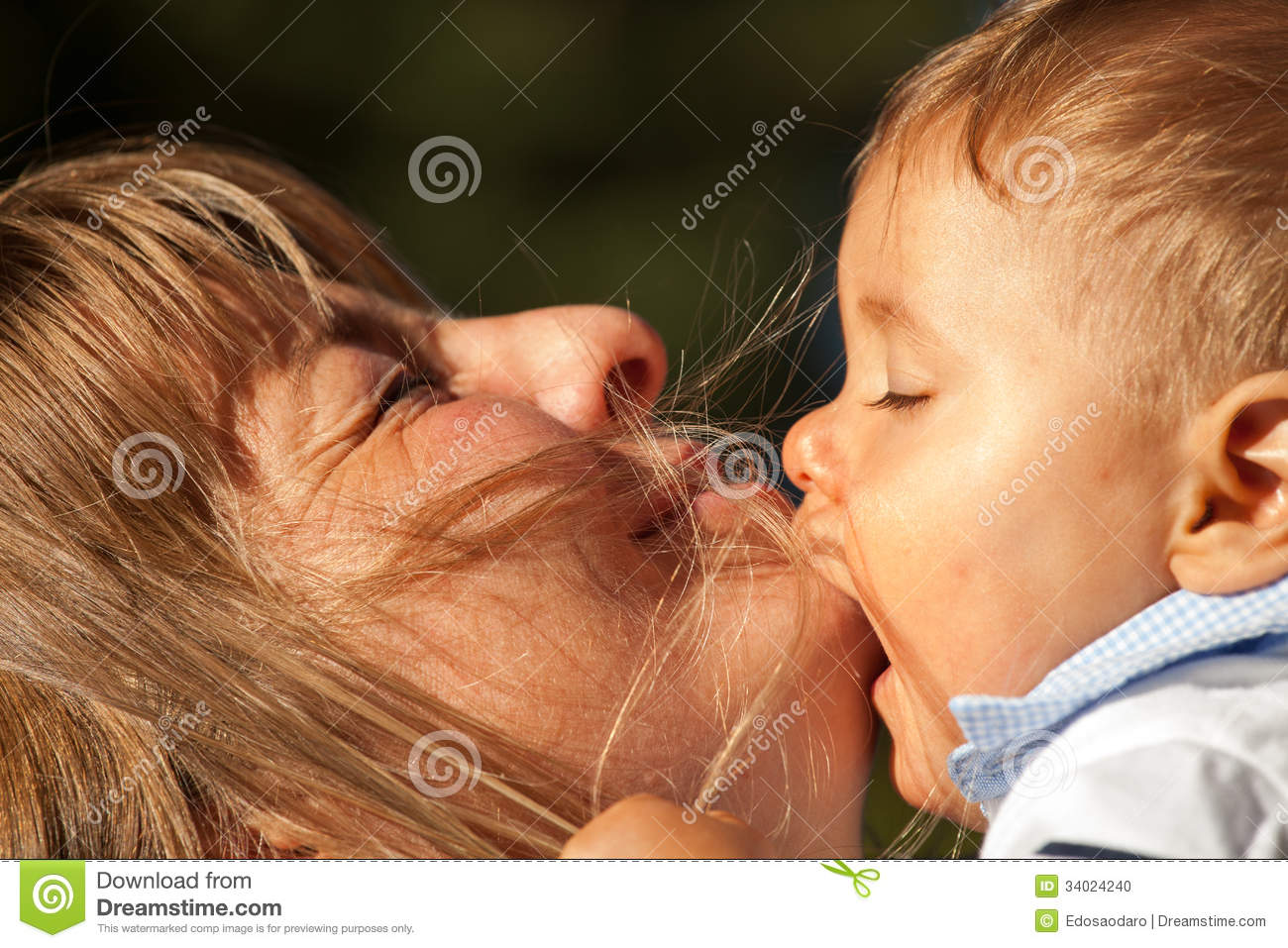 Baby Kissing Mother
