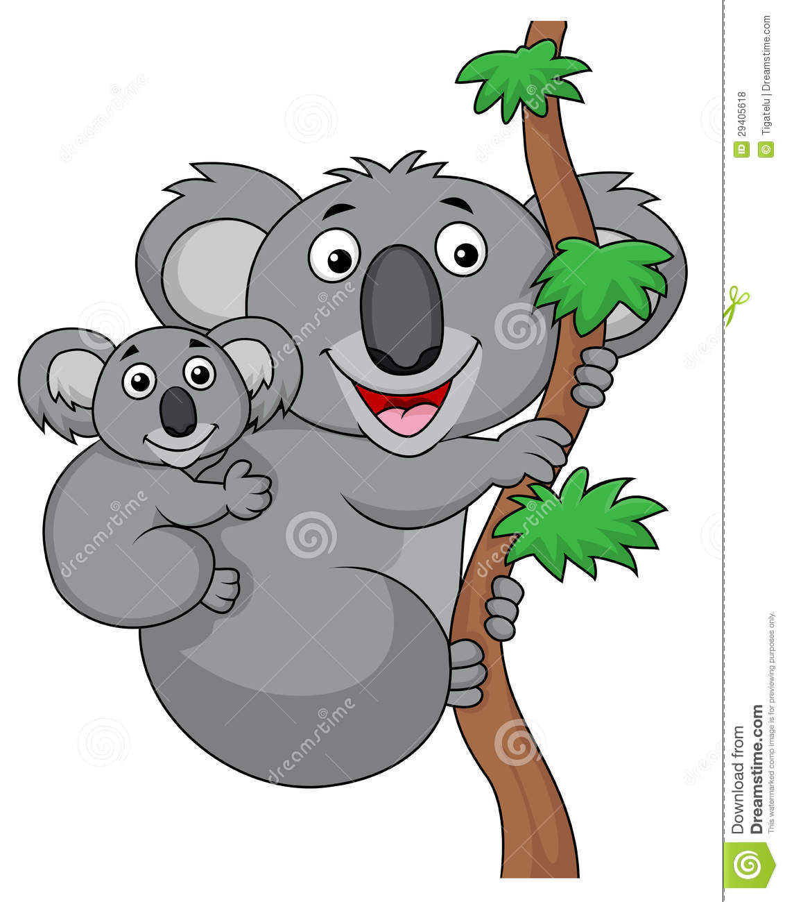 Mother And Baby Koala Cartoon Royalty Free Stock Photos - Image ...