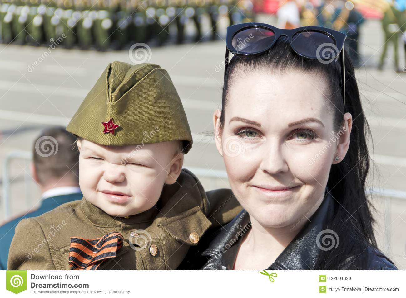Download Mother With Baby In Soldier Costume At The Honor Of Annual Victo Editorial Image -  sc 1 st  Dreamstime.com & Mother With Baby In Soldier Costume At The Honor Of Annual Victo ...
