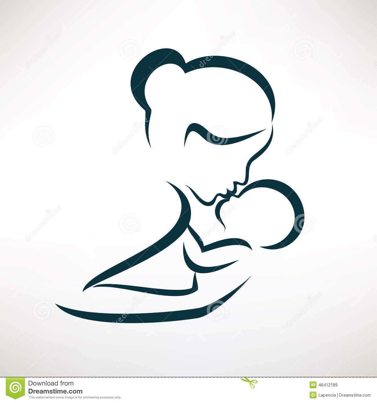 Mother And Baby Stylized Vector Symbol Stock Vector - Image: 46412189 Eagle Football Logo