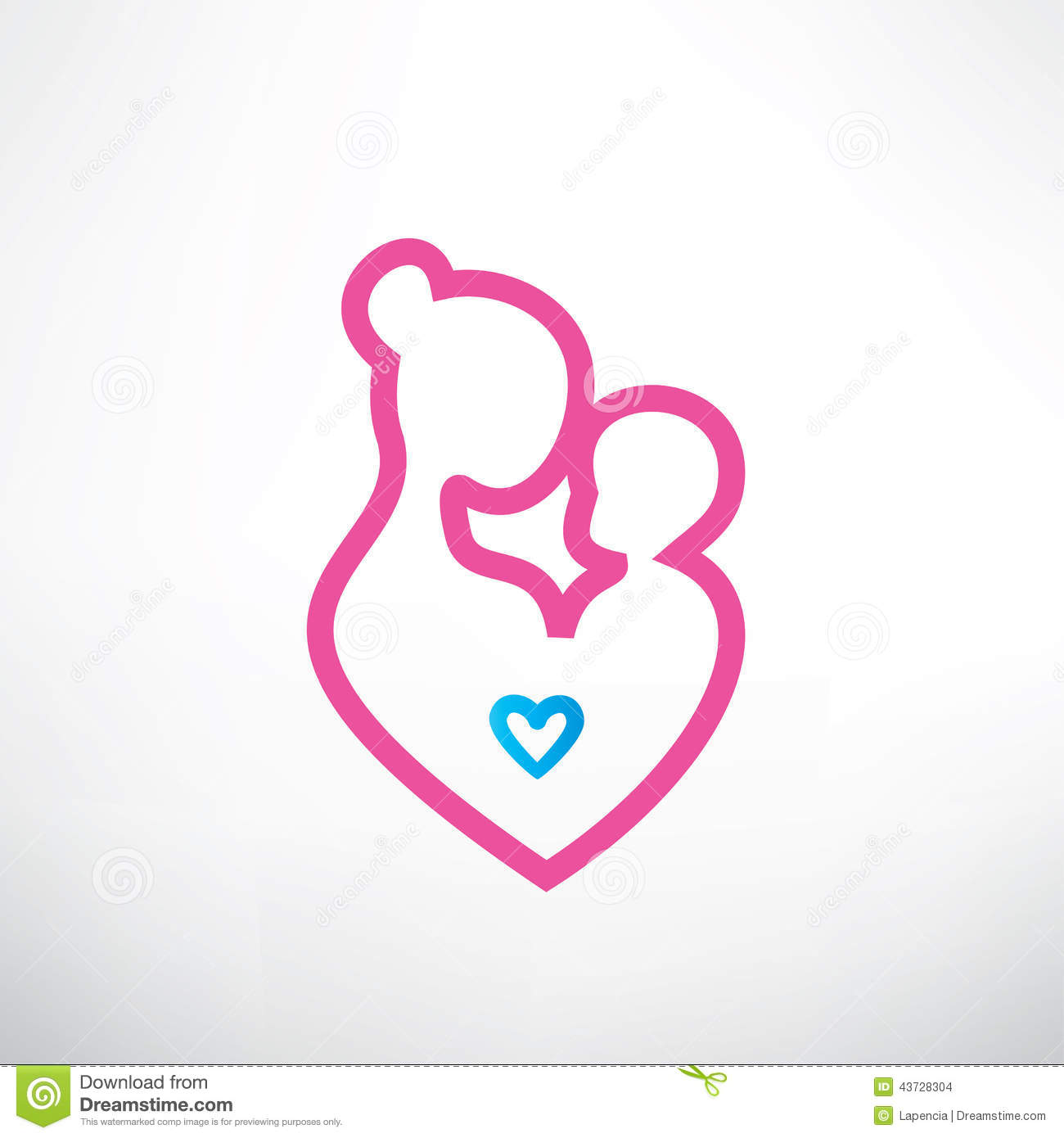 Mother And Baby Symbol Illustration 43728304 Megapixl