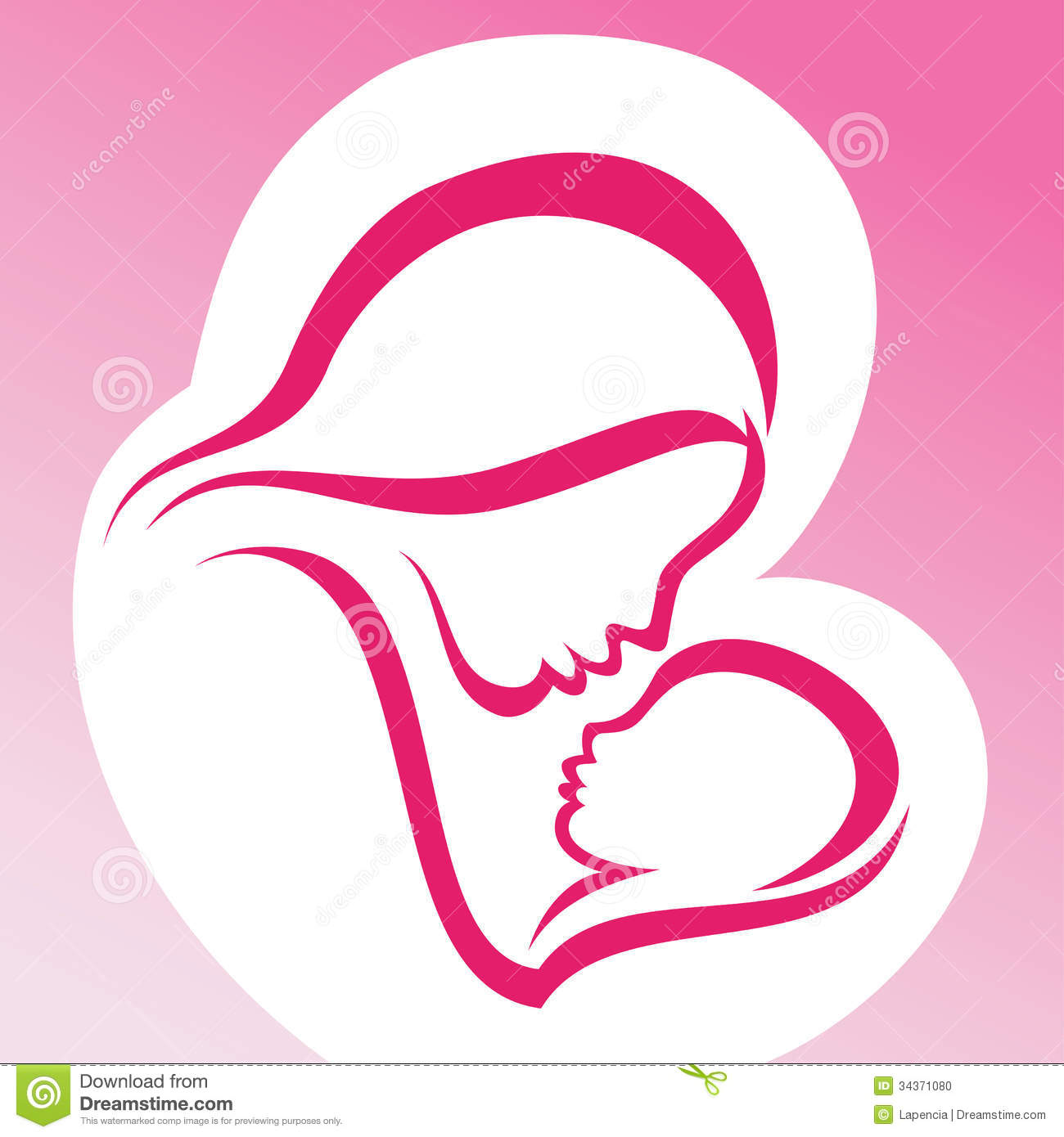 Mother and baby stock vector. Illustration of fragile ...