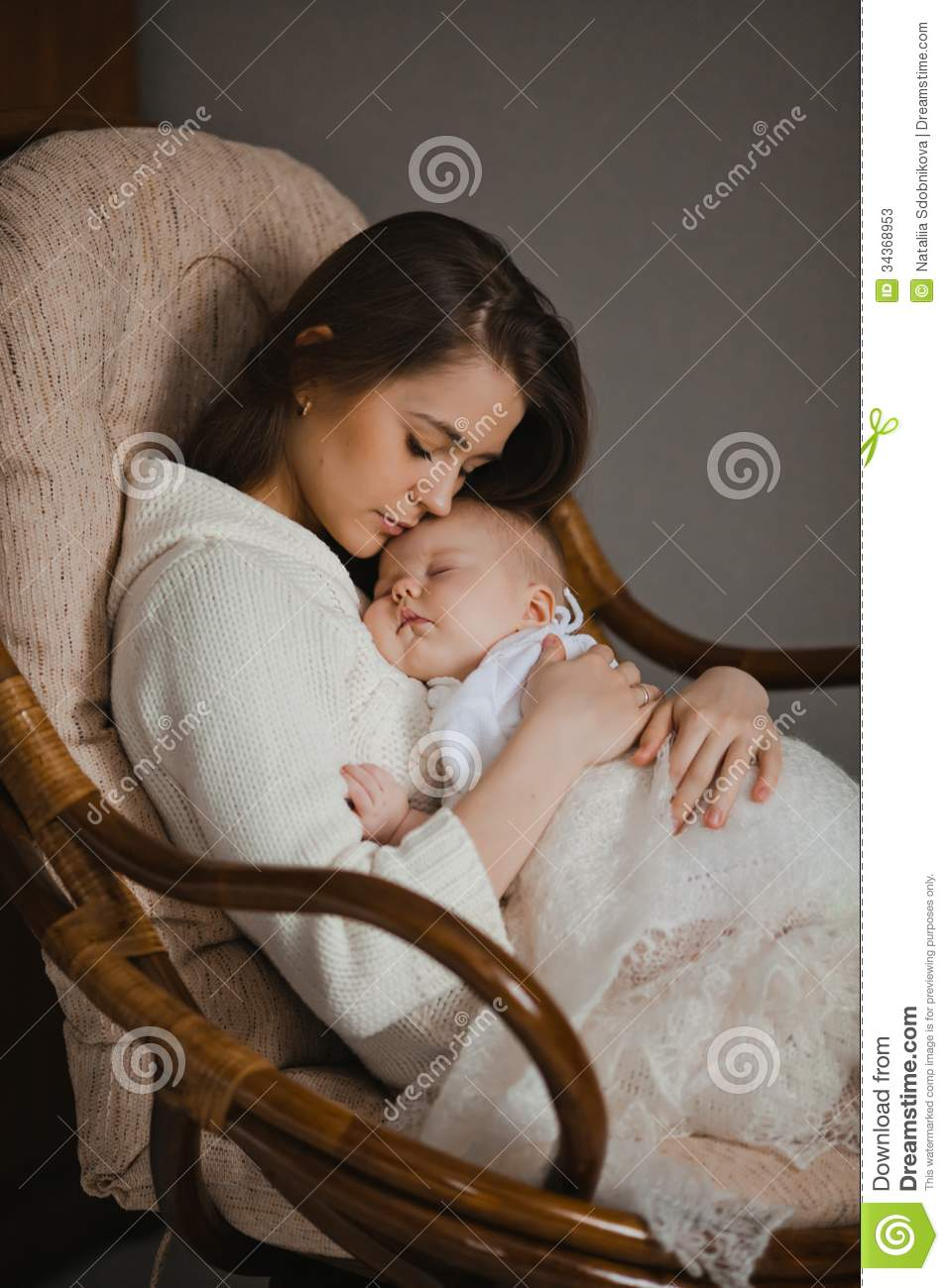 Mother With Baby Stock Image Image Of Affectionate House