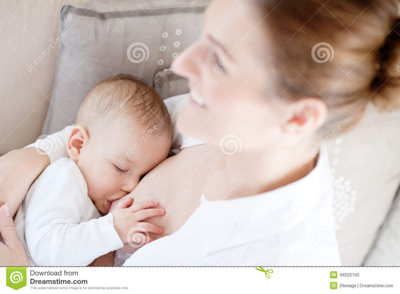 Mother Breast Feeding Her Infant Stock Photo - Image: 49225100