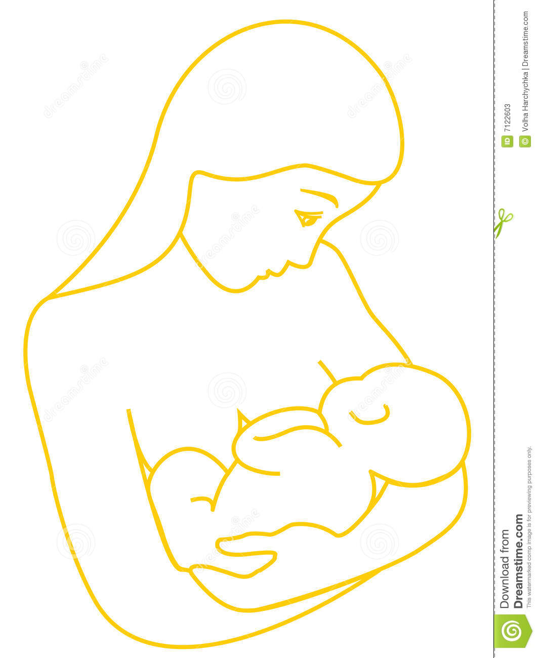 Mother Breastfeeding Her Baby Stock Vector