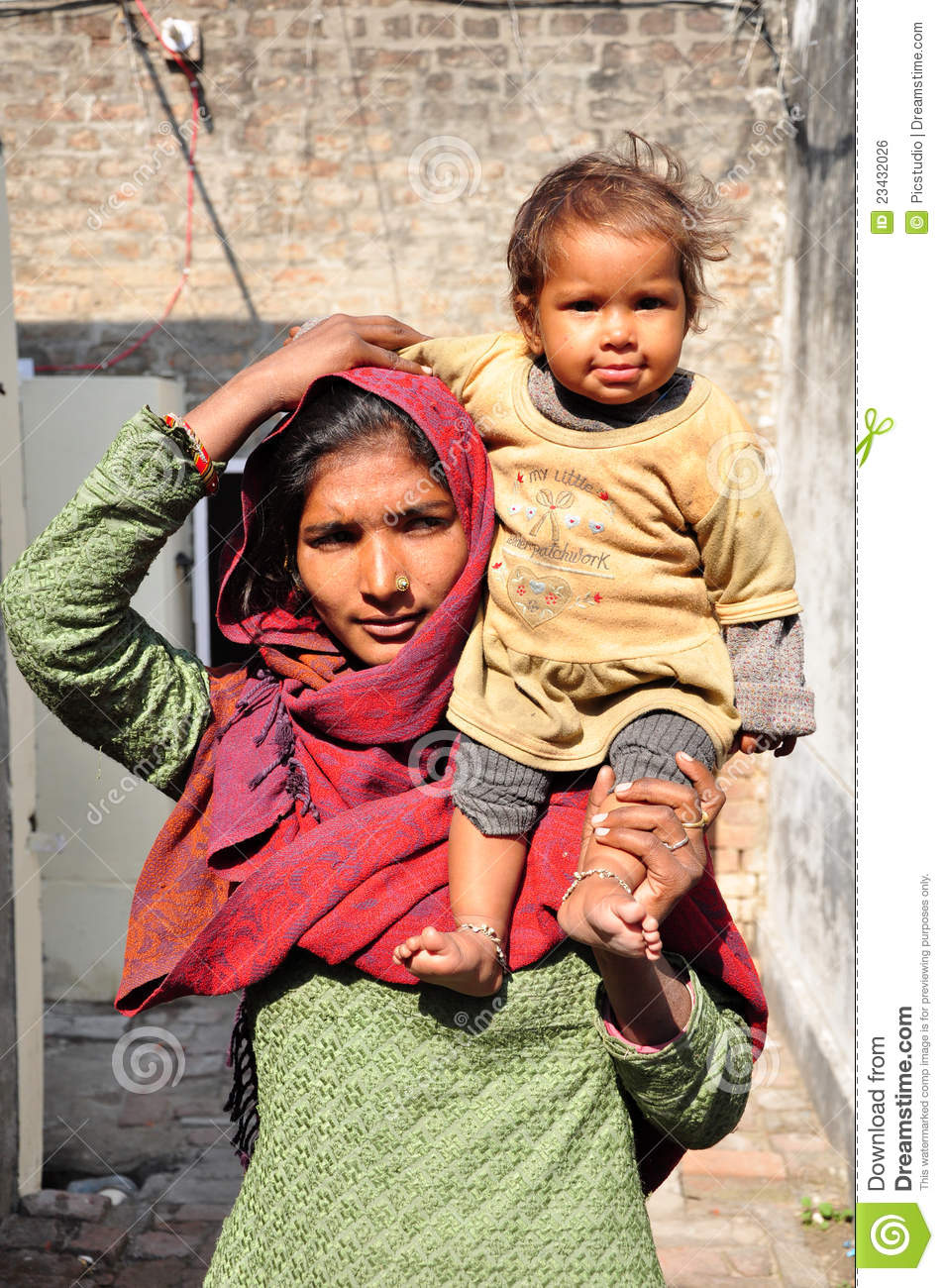 Mother and child editorial photo  Image of bricks, people
