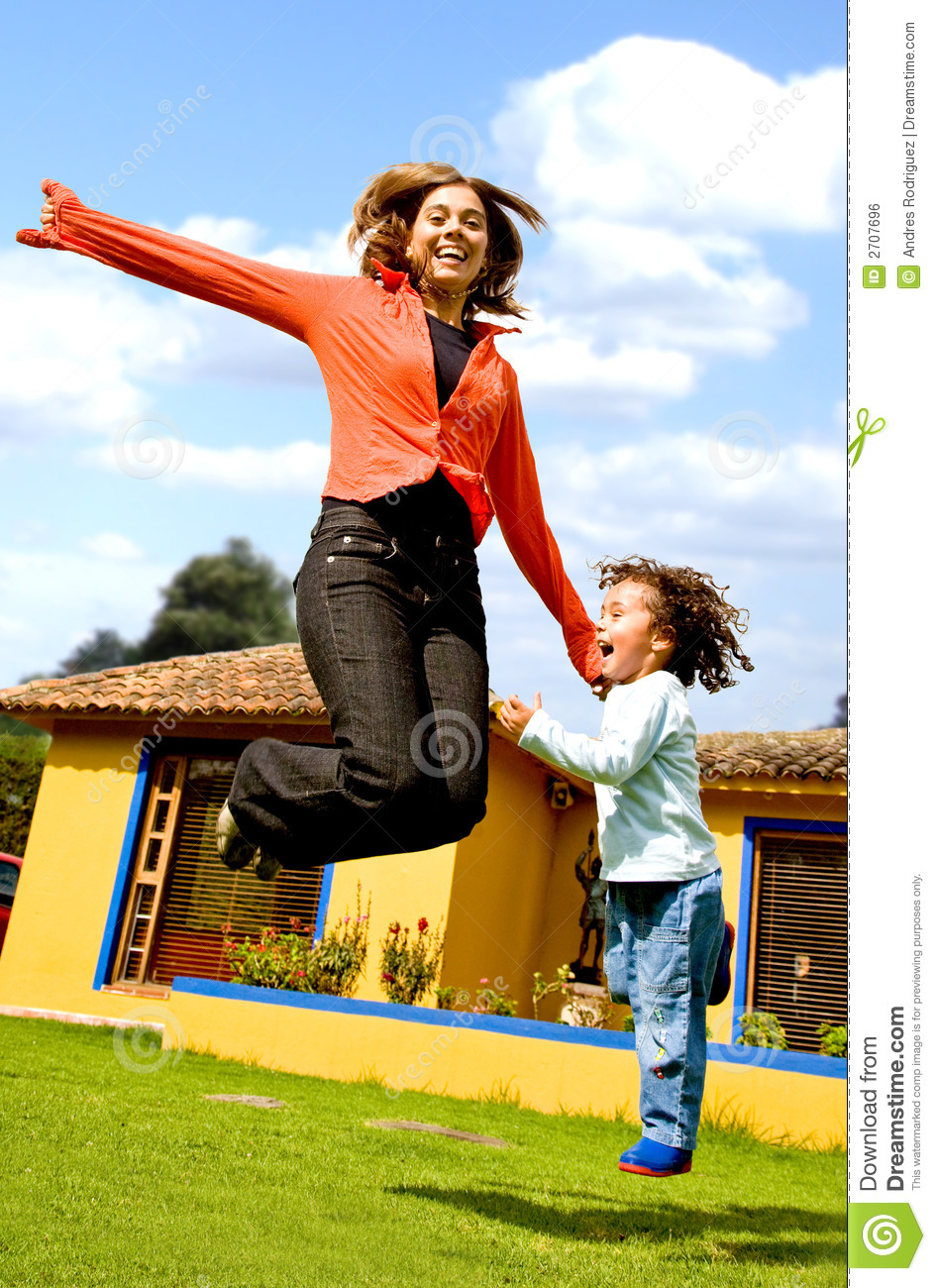 Mother And Child Having Fun Stock Photo Image Of