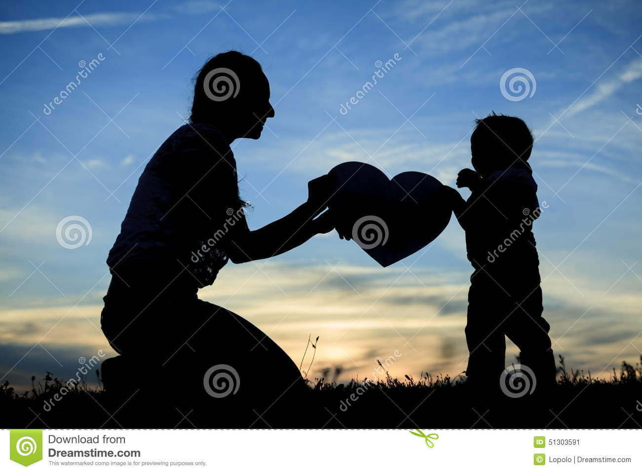 Mother Child Love Stock Image Image Of Heart 2530 Backlit 51303591