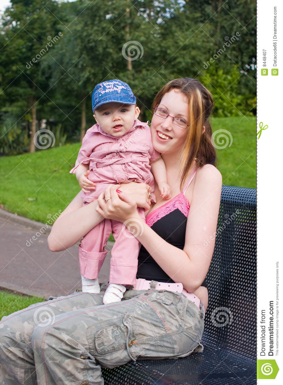 Mother and child in the park