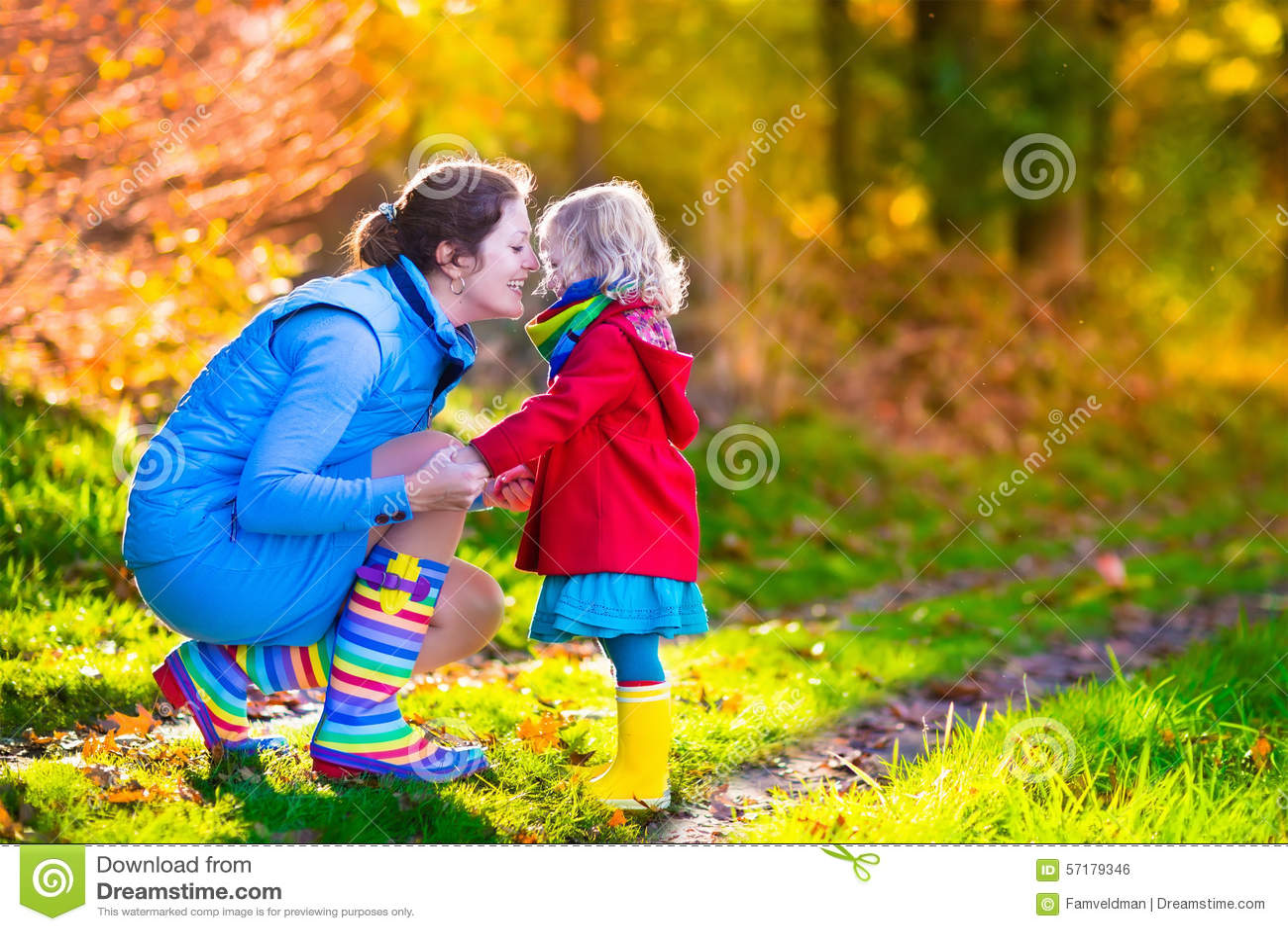 Картинки осень дети мамы