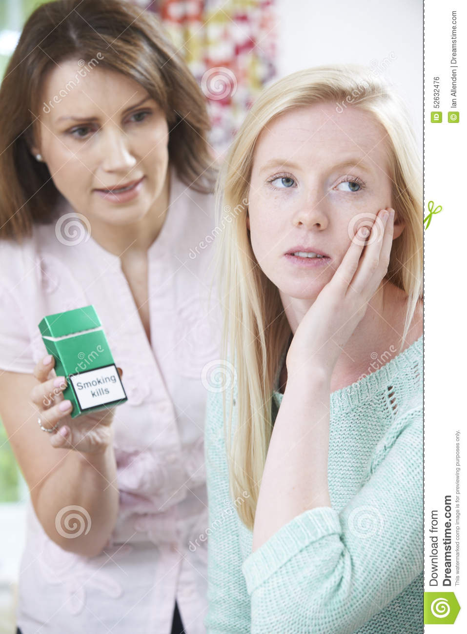 Mother Confronting Daughter Over Dangers Of Smoking