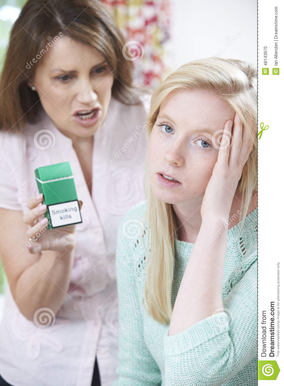 Mothers And Daughters Smoking Cigarettes