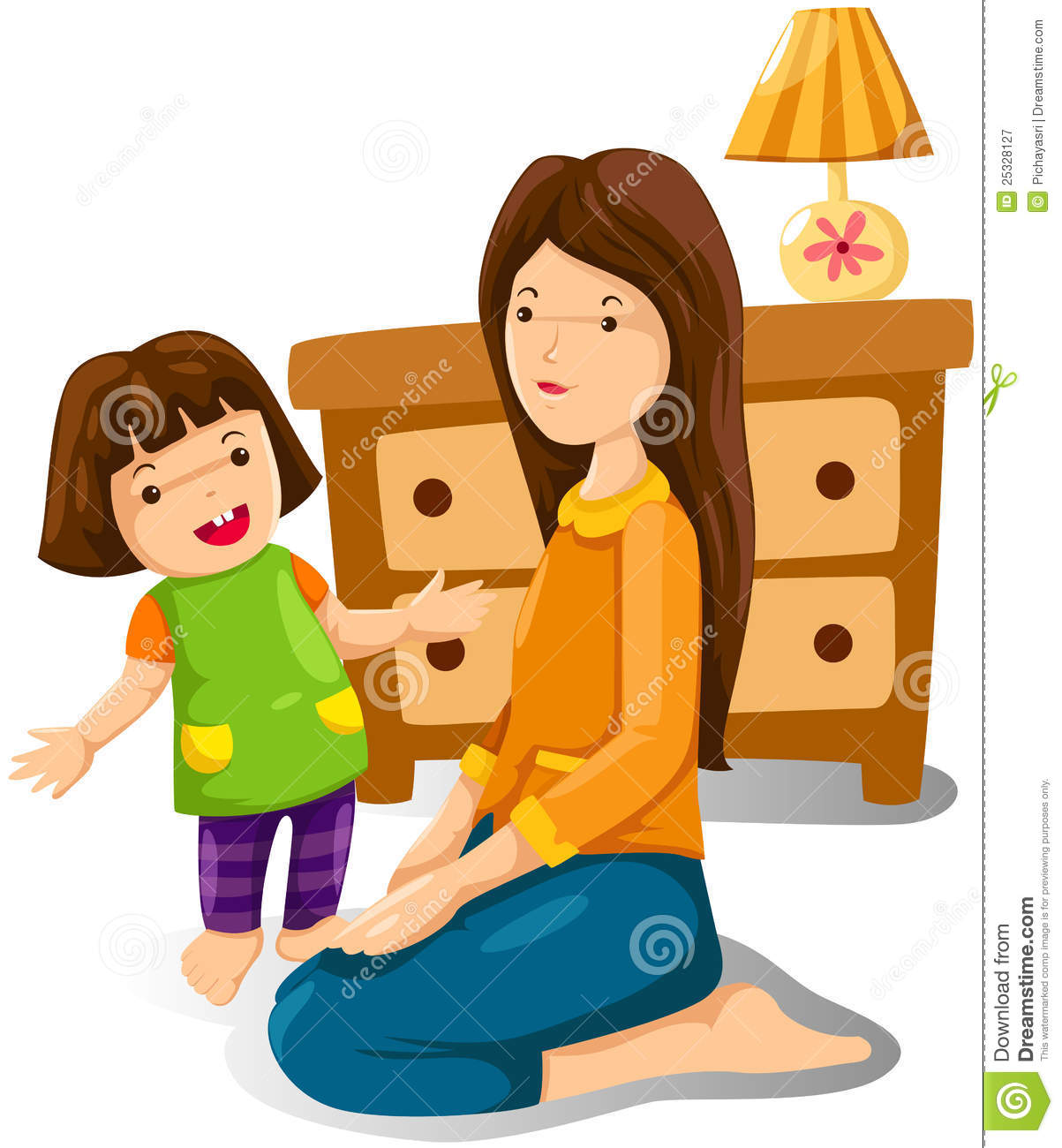 listen to a talk_Mother And Daughter Royalty Free Stock Photography - Image: 25328127