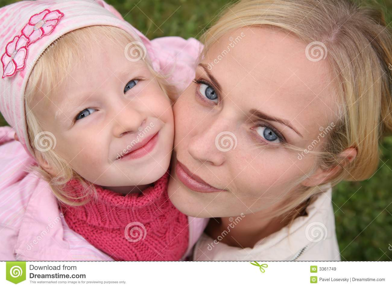 Mother and the daughter
