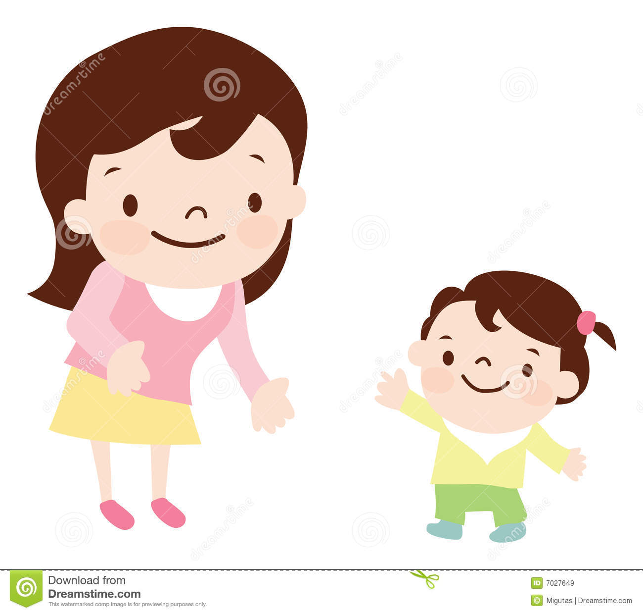 Mother And Daughter Royalty Free Stock Images - Image: 7027649