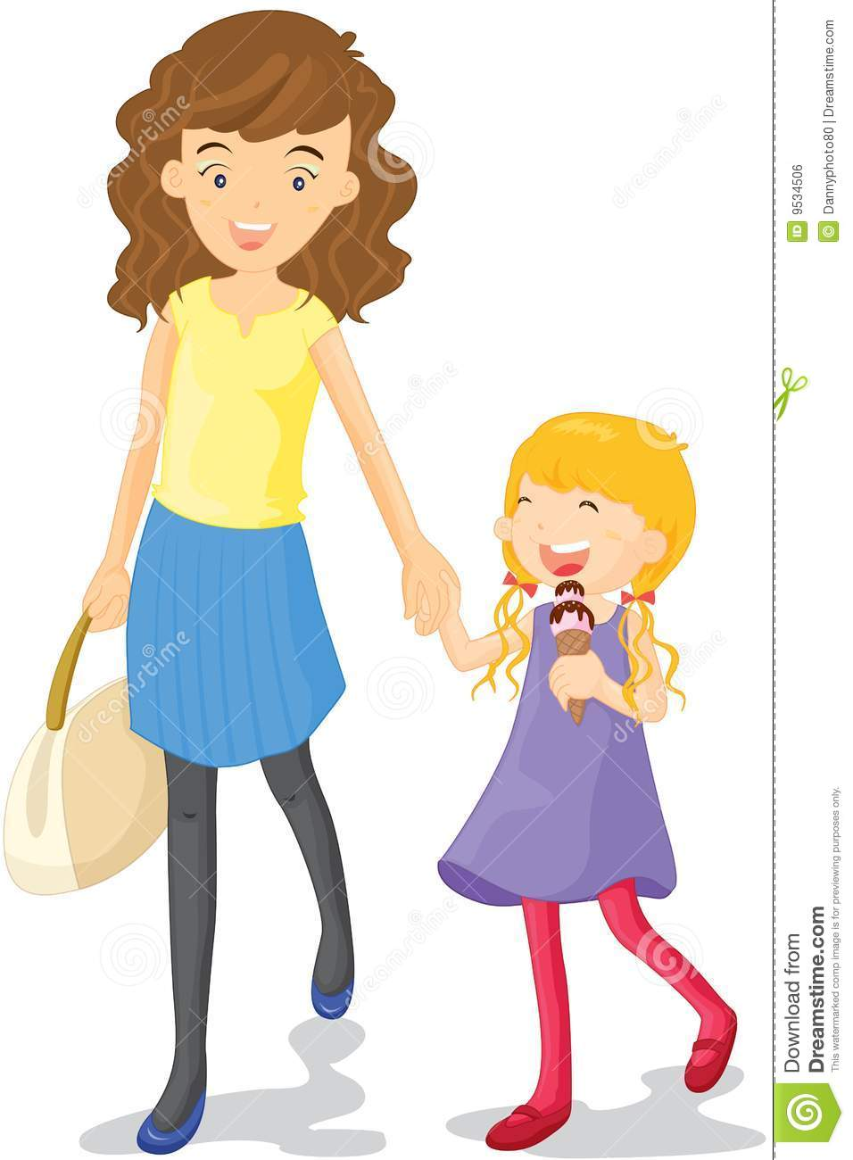 Mother And Daughter Royalty Free Stock Image - Image: 9534506