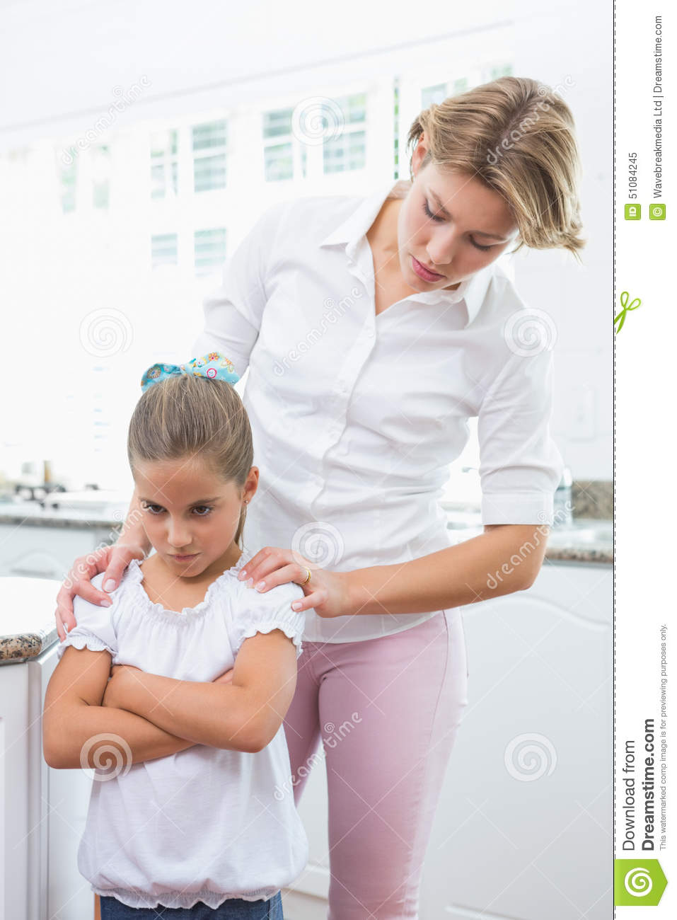 Mother and daughter after an argument stock photo image for Mother daughter house design
