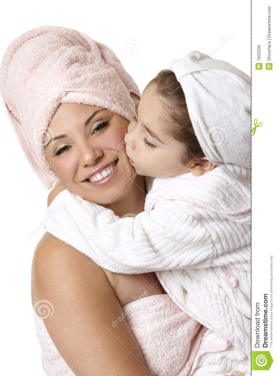 Mother Daughter At Bathtime Stock Photo - Image: 7650330 Relaxing Dog Bath