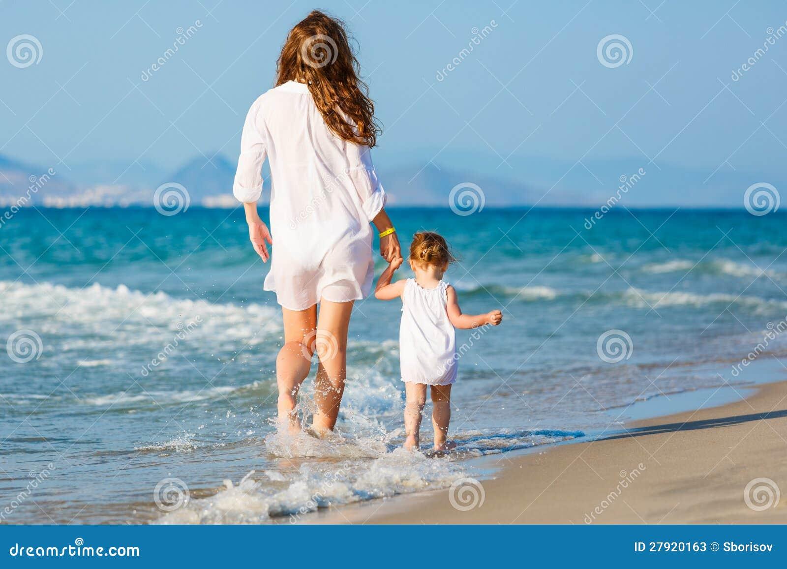 Фото с пляжей мам и дочек 5 фотография