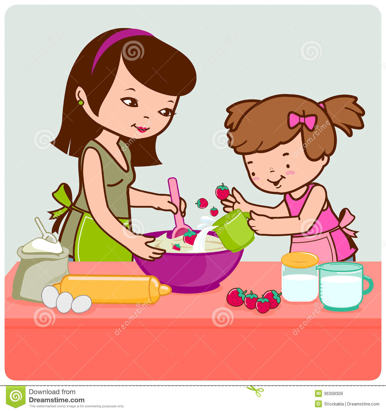 Mother And Daughter Cooking Royalty Free Stock Images - Image ...