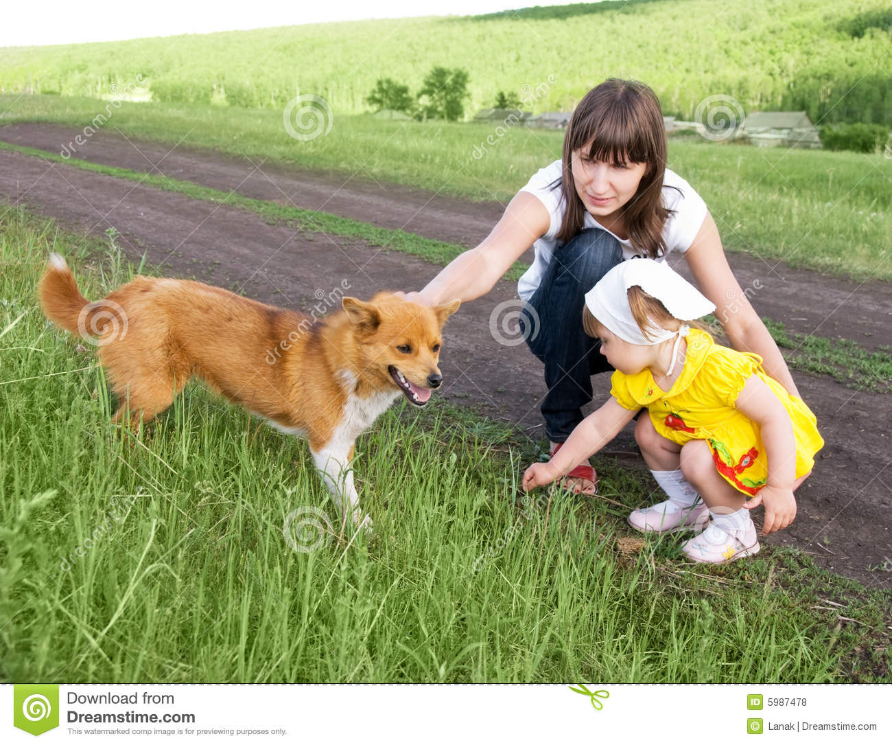 Mom and daughter stock photo. Image of family, care ... |Dog Mom And Daughter