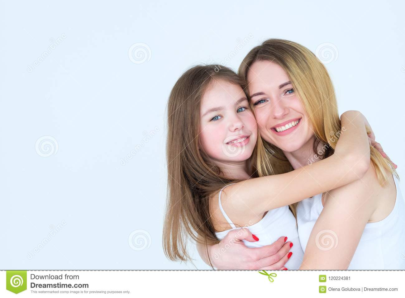 8c763cfb41 Mother and daughter friendship. loving emotion and feelings expression.  tight family hugs.
