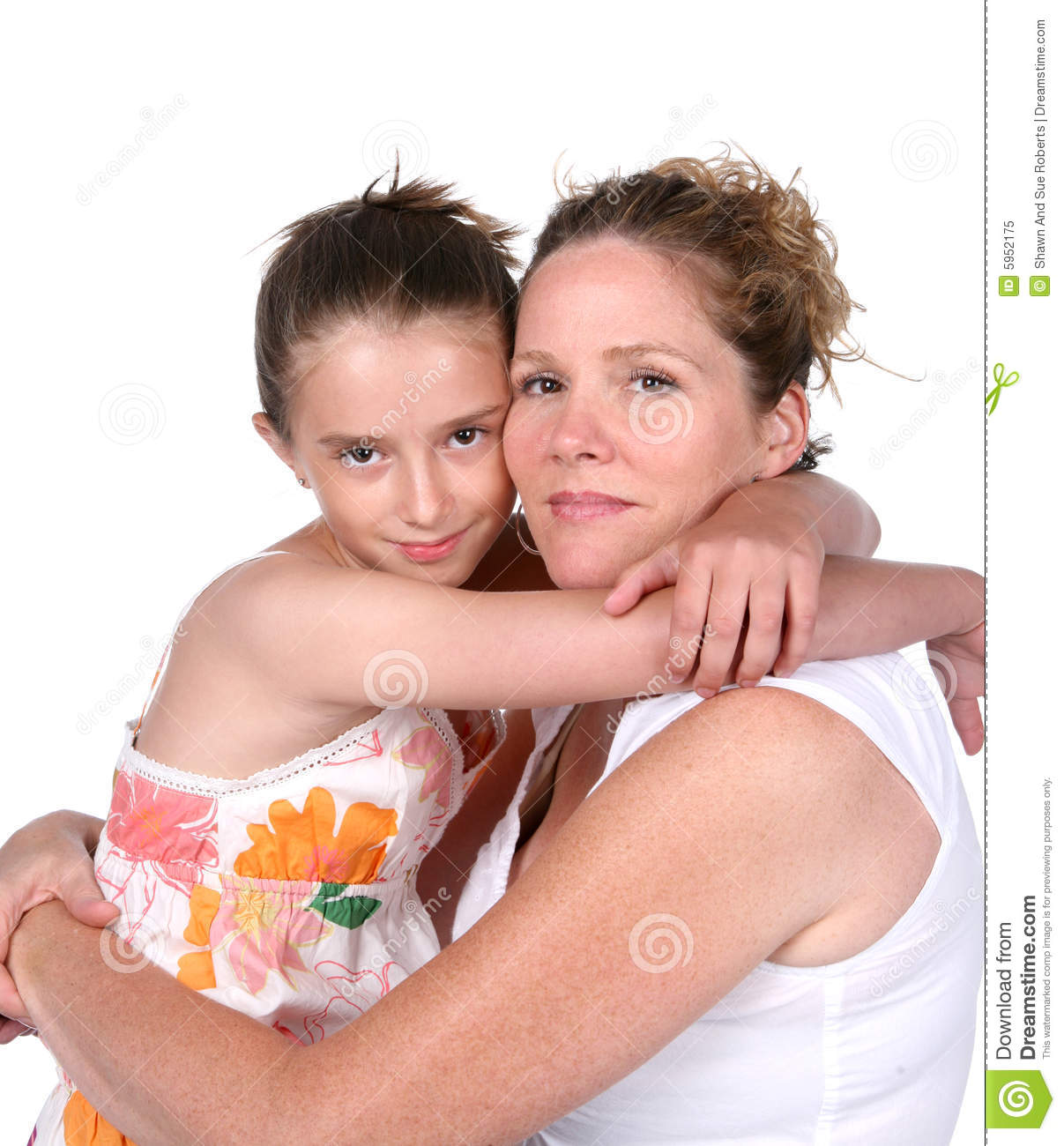 Mother and daughter hugging — Stock Photo © kiuikson #81294788