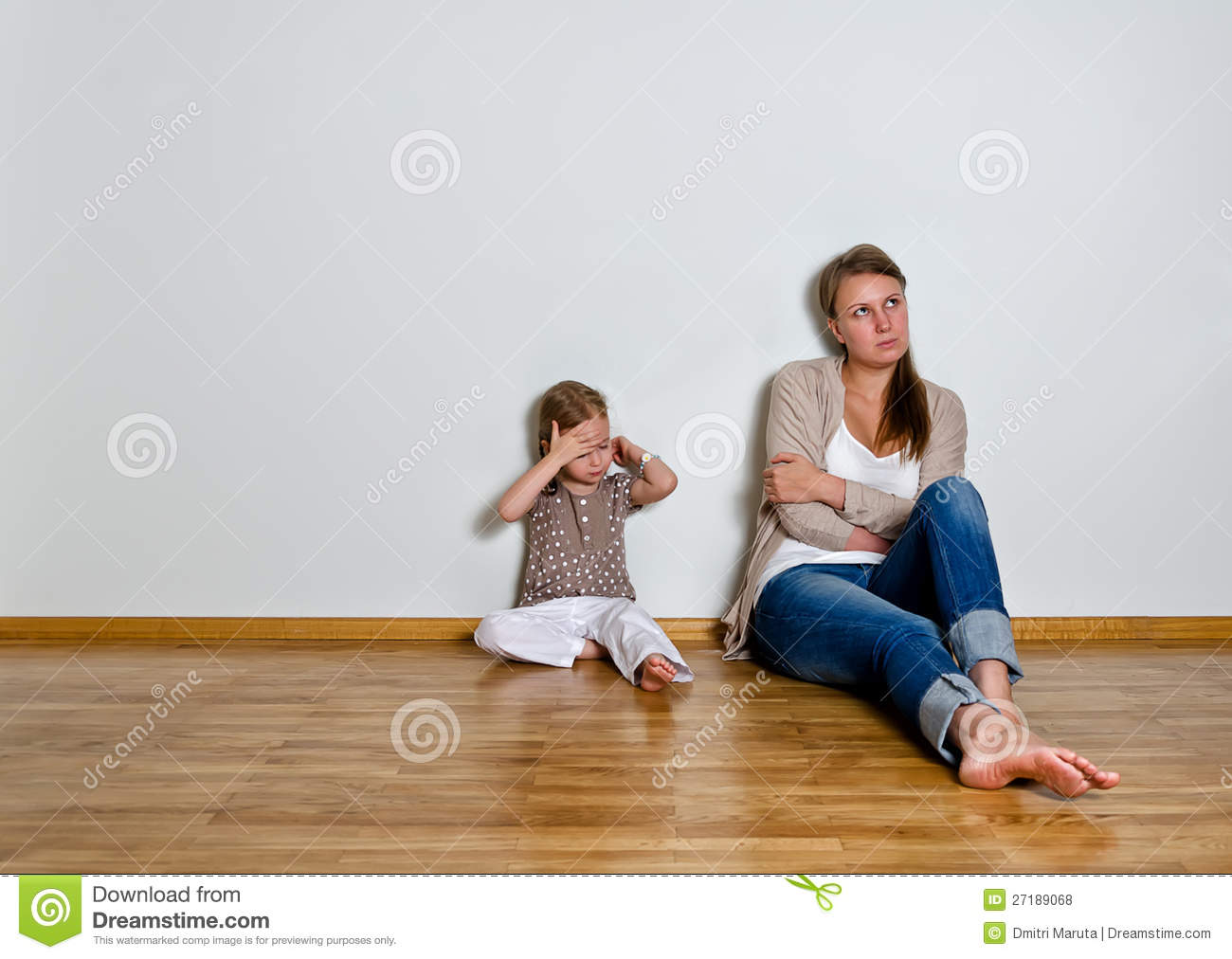 Mother And Daughter Are In Quarrel Stock Photo - Image ...