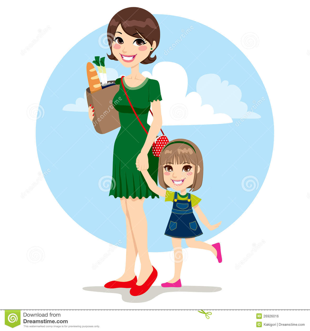 Mother And Daughter Shopping Royalty Free Stock Image