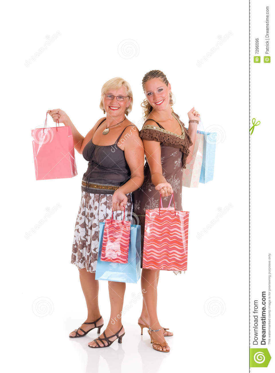 Mother daughter shopping royalty free stock image image for Mother and daughter spa weekend
