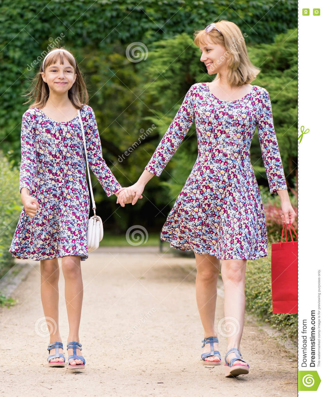 mother and daughter shopping trip stock photo  image of