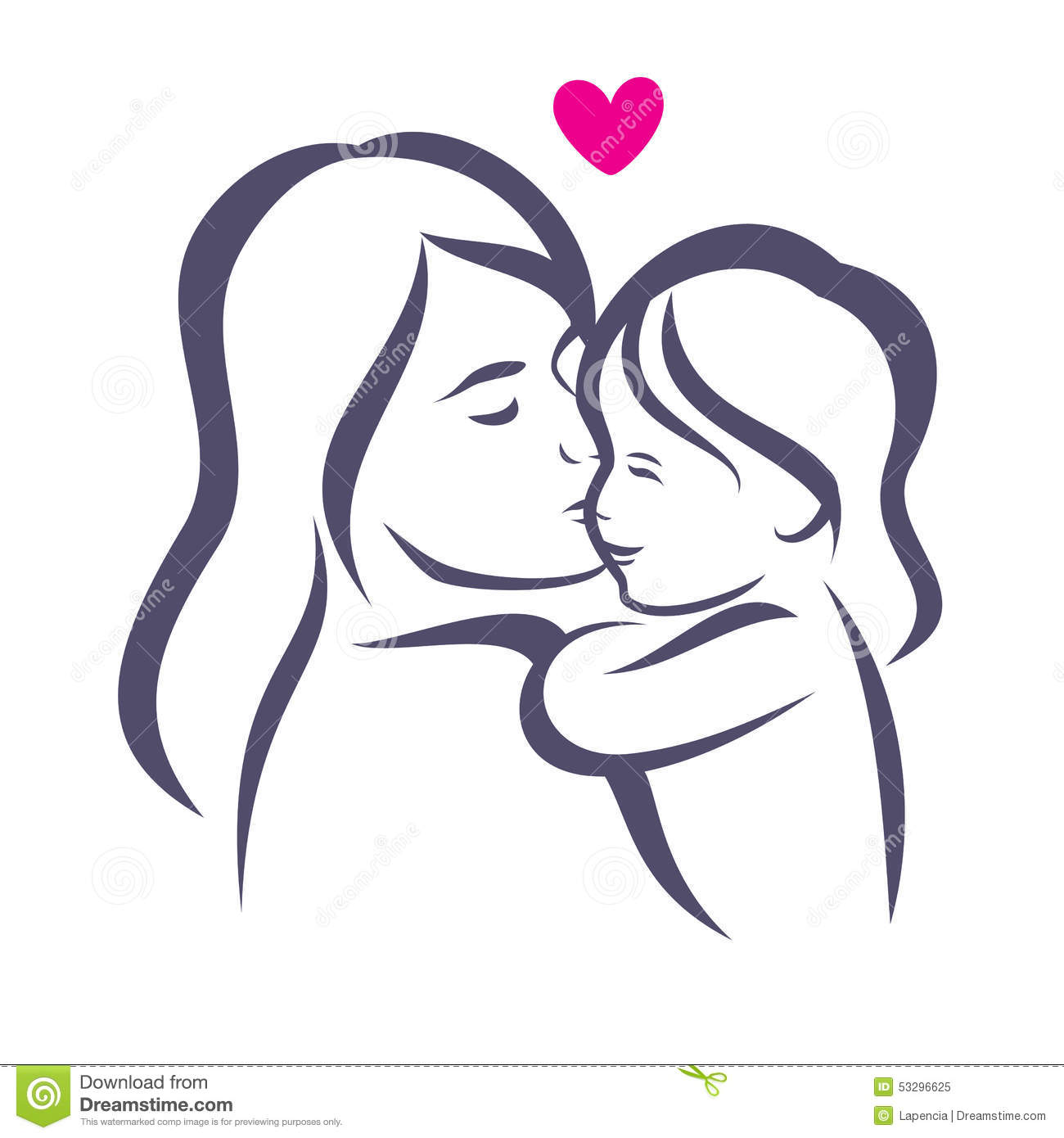 mother and daughter stylized vector silhouette stock Pregnant Belly Silhouette Clip Art Pregnant Couple Silhouette Clip Art
