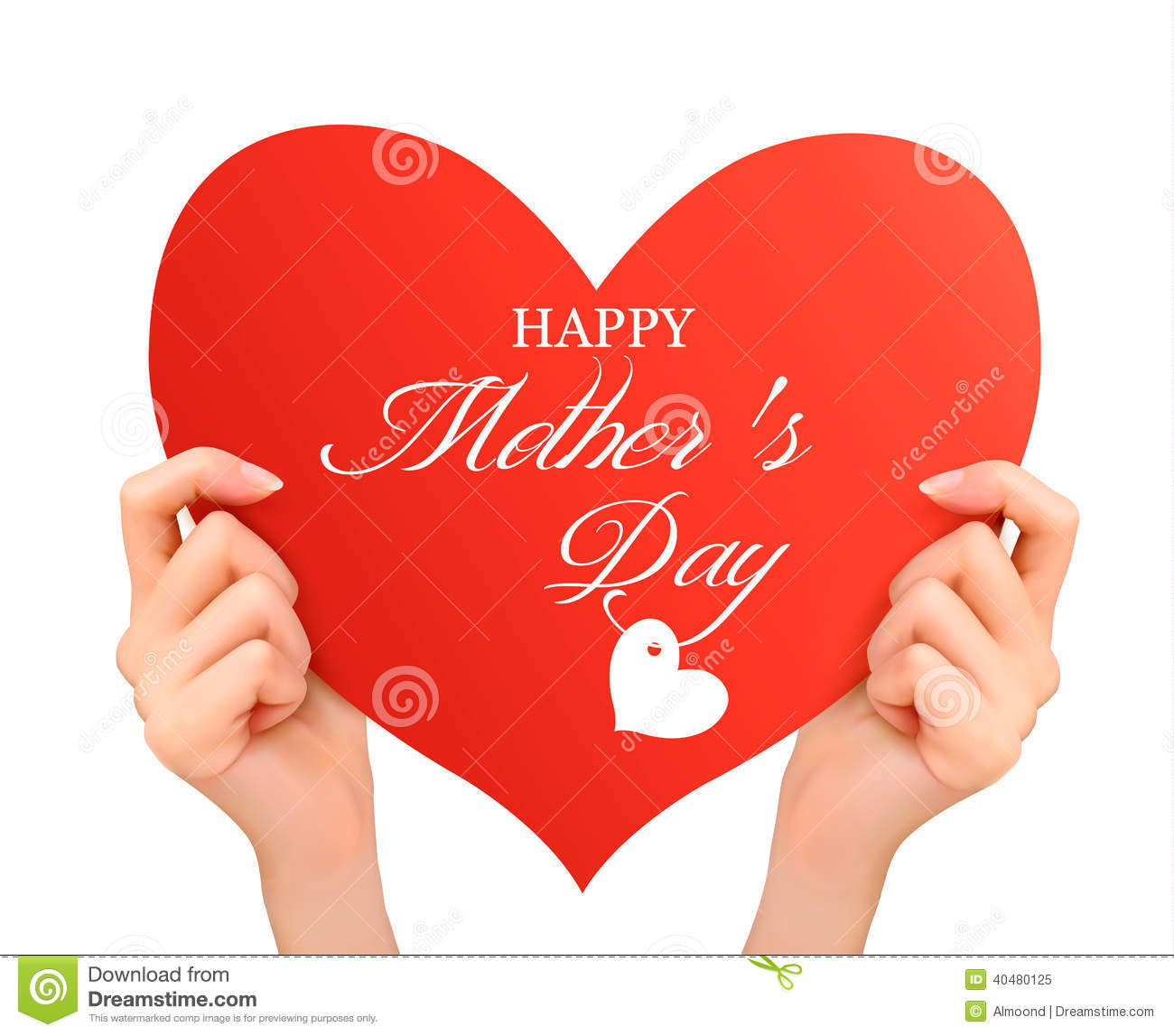 hands holding a heart mothers day card day background two holding stock 8101