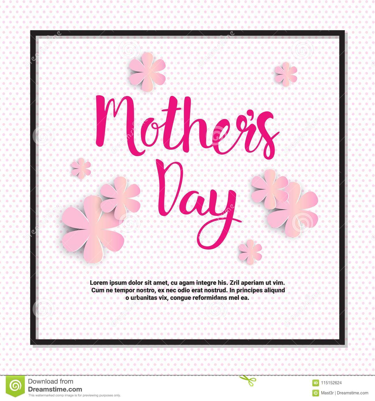 Mother Day Card Background Poster Holiday Greeting Banner Design