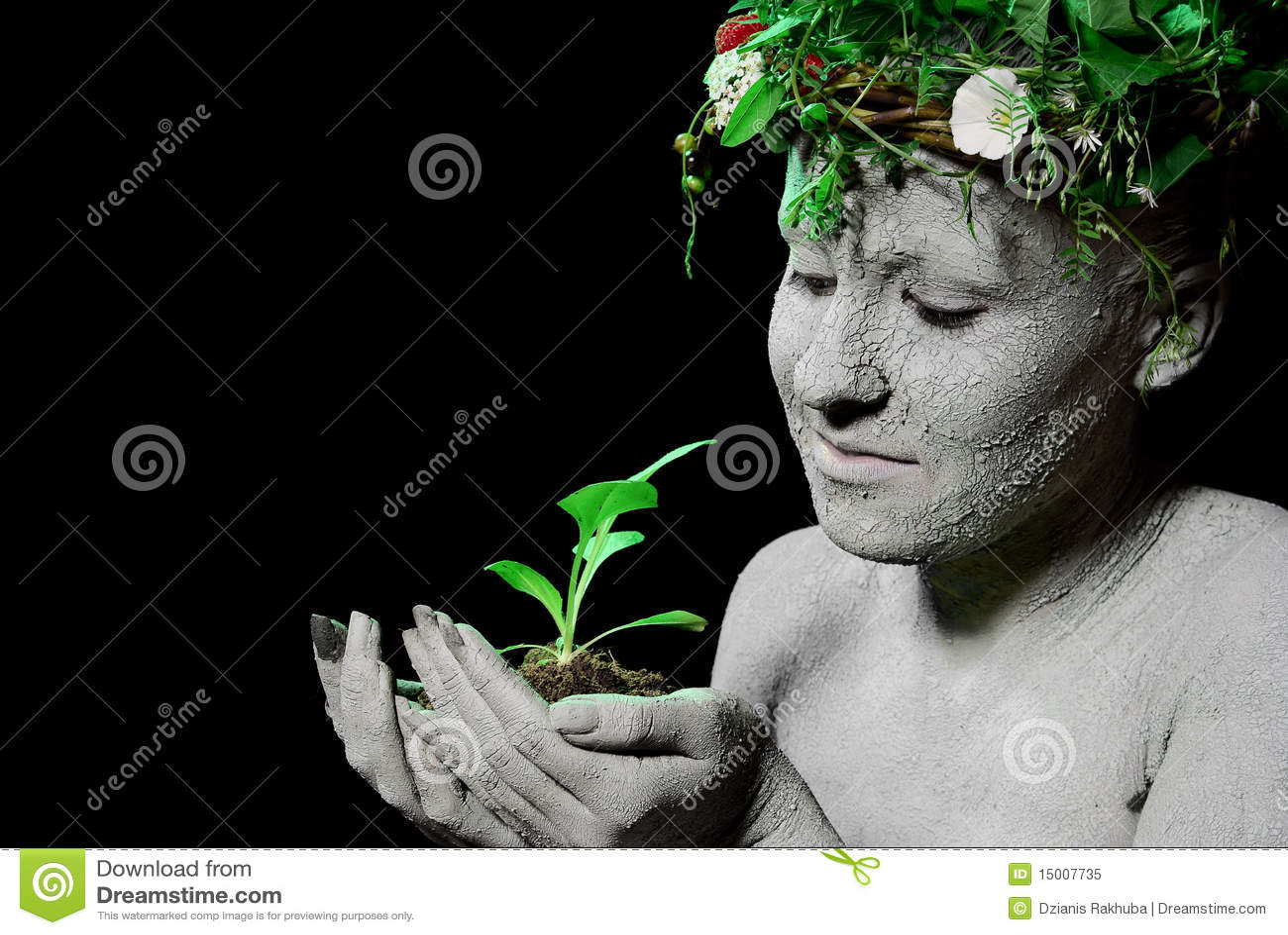 mother earth stock image image of make grow hand green 15007735. Black Bedroom Furniture Sets. Home Design Ideas