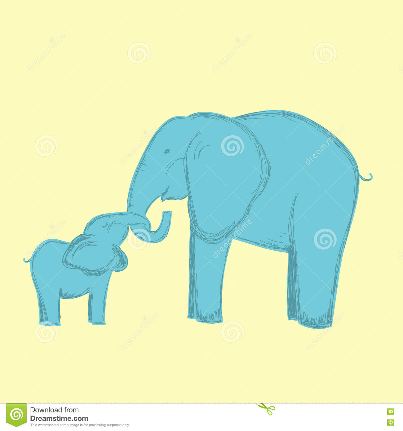 Child support cartoons illustrations vector stock for Elephant heart trunk