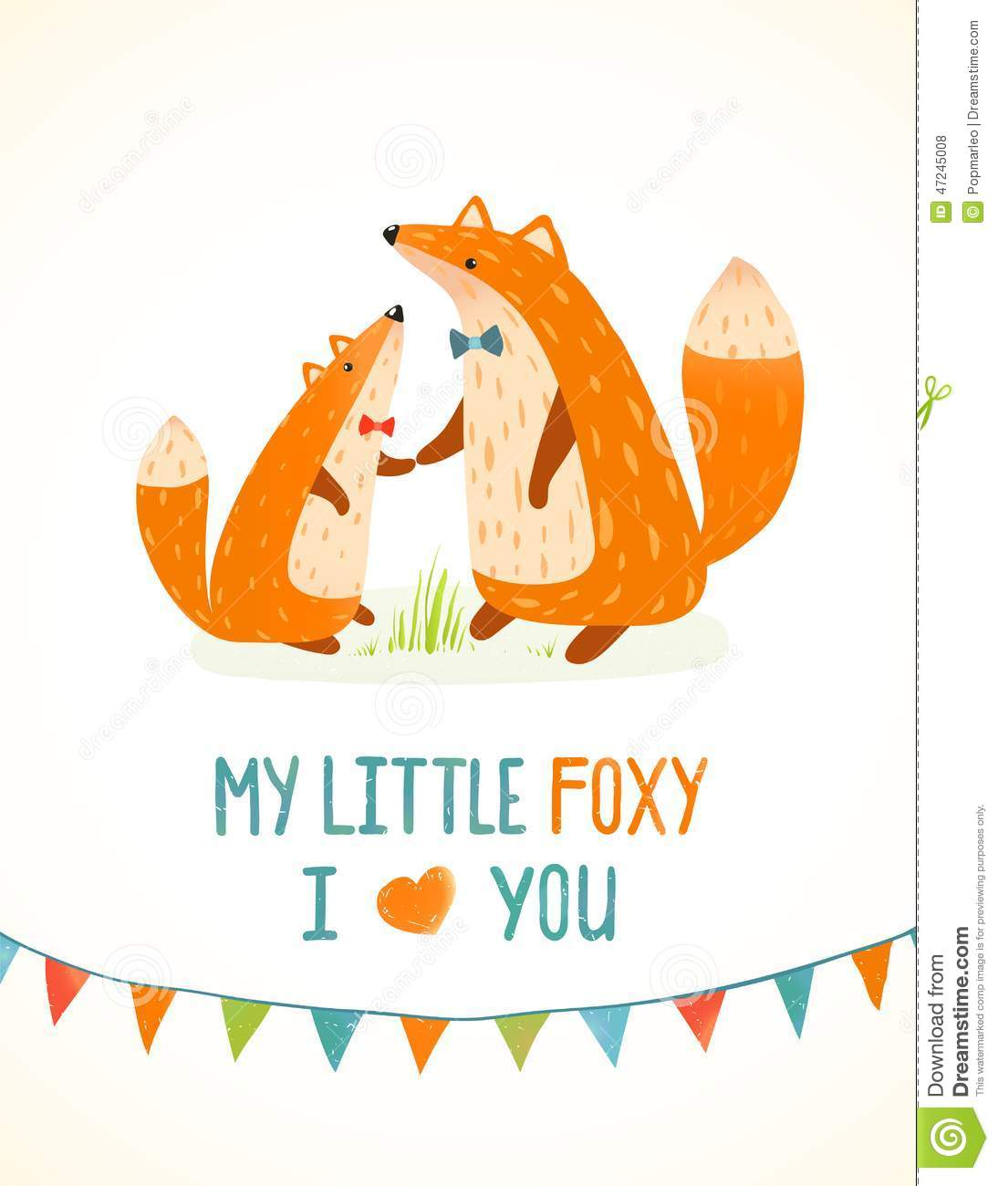 Mother Or Fathe... Red Fox Illustration