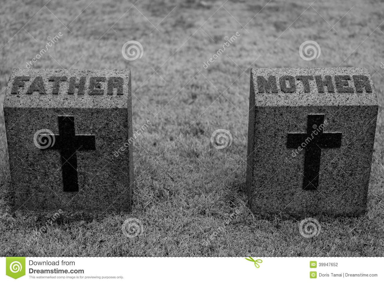mother and father headstone stock photo image of beautiful paternal 39947652. Black Bedroom Furniture Sets. Home Design Ideas