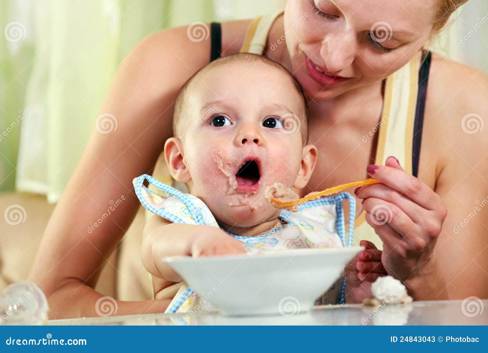 a adult baby feeding