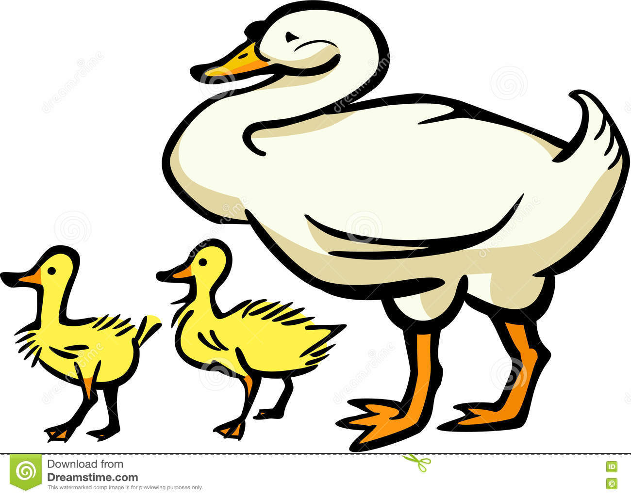 mother goose and two goslings stock vector illustration of yellow rh dreamstime com mother goose clip art free mother goose clipart