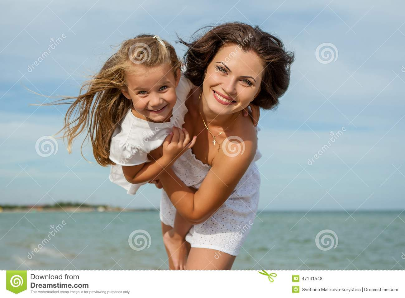 Mother and daughter having fun-6457