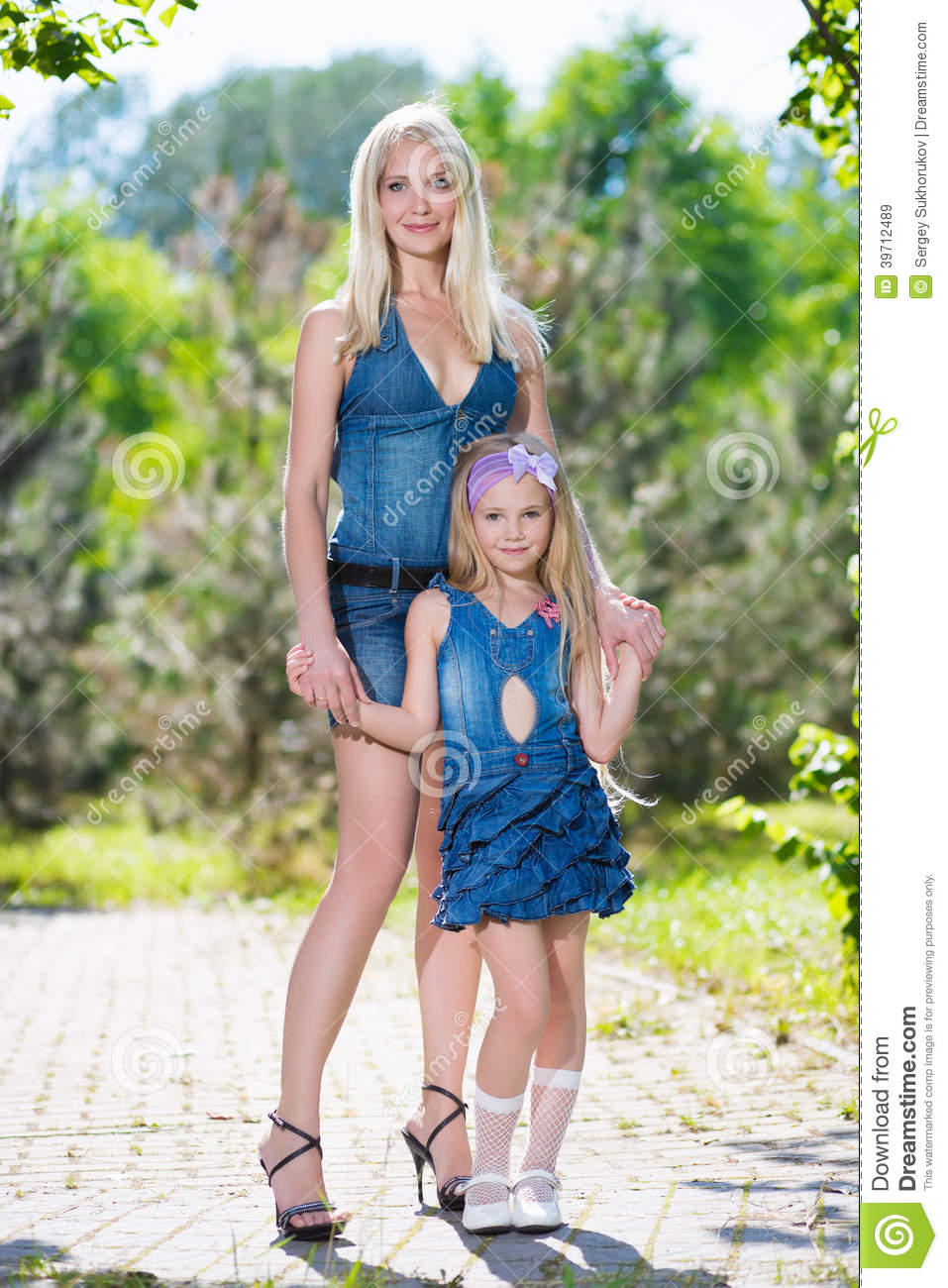 Mother of two posing for you 4