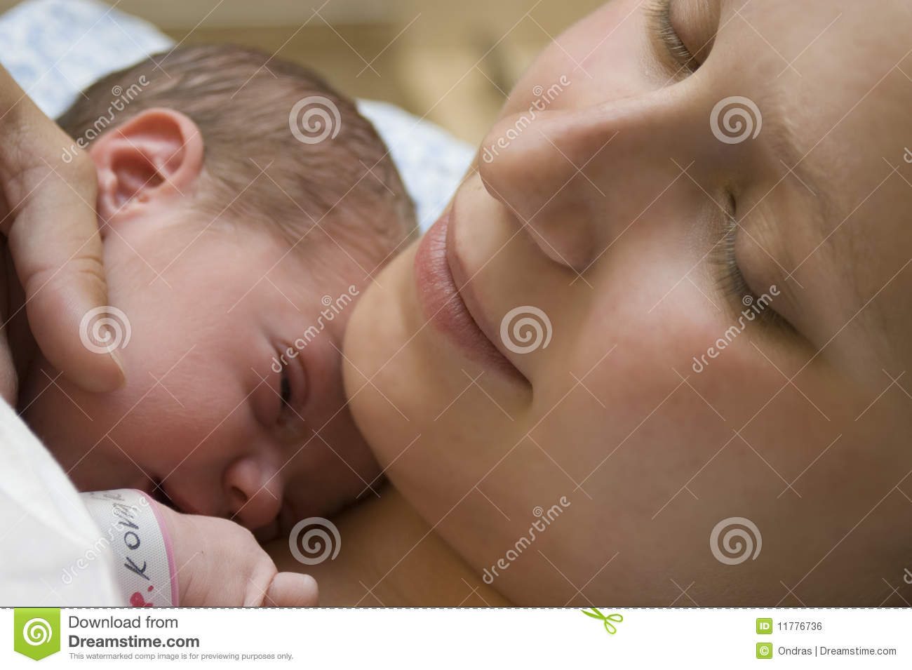 Mother with her newborn baby