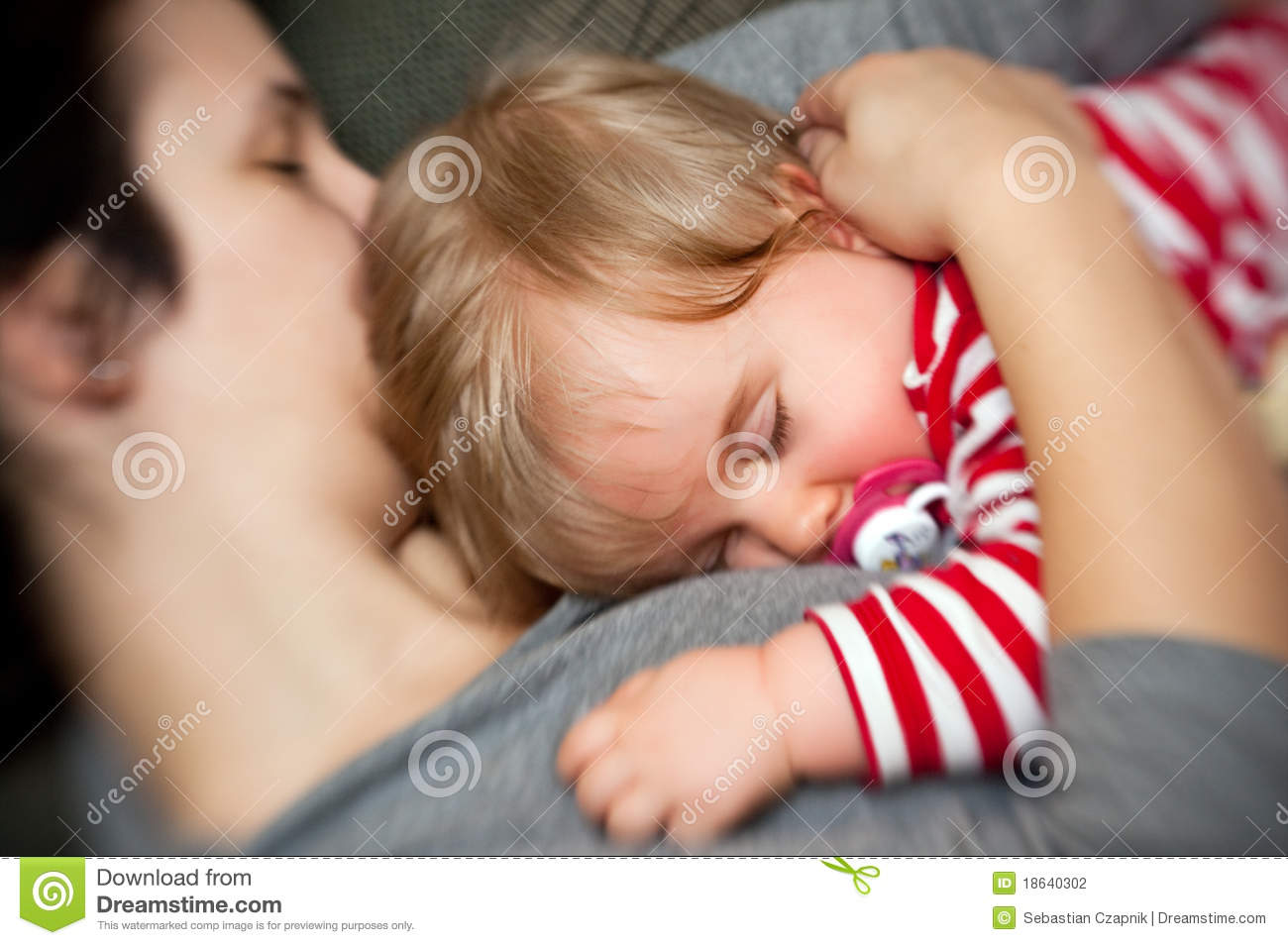 Download Mother hold sleeping baby stock photo. Image of cutie - 18640302